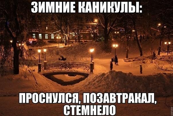зимой день проходит быстро