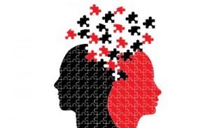 мужчина и женщина говорят и слушают по разному