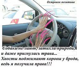 женщина за рулем ногти