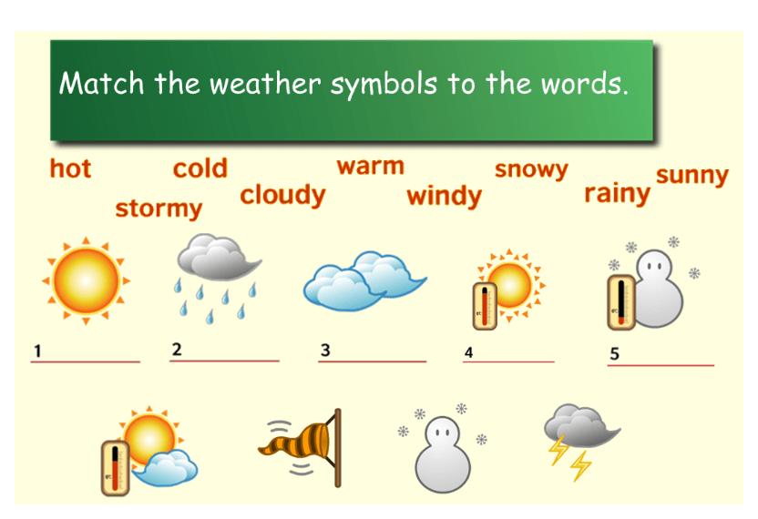 тест английский подбери слова