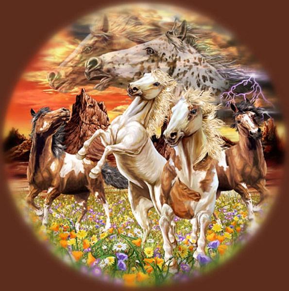 тест на внимательность найди коней
