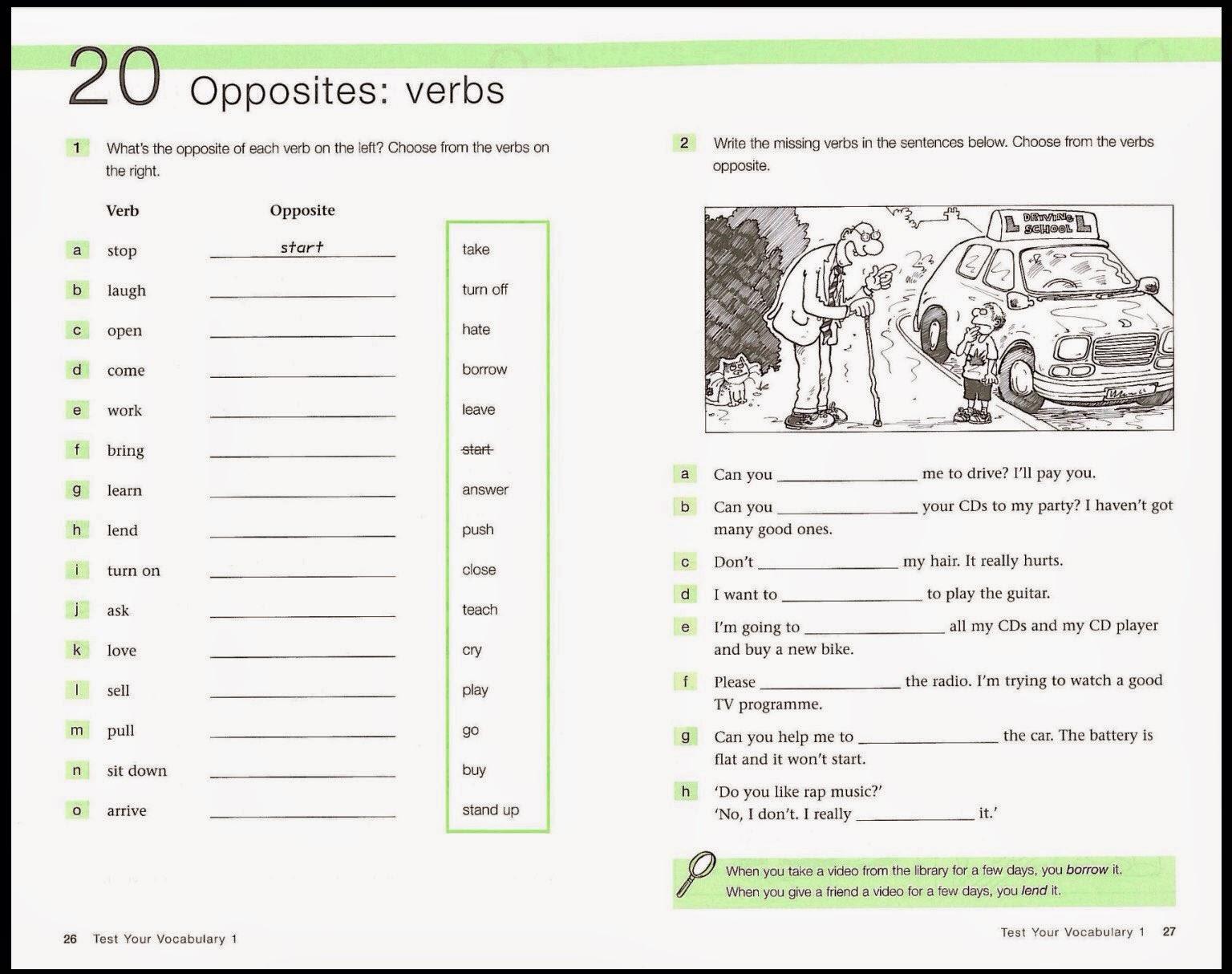 тест по английскому языку антонимы