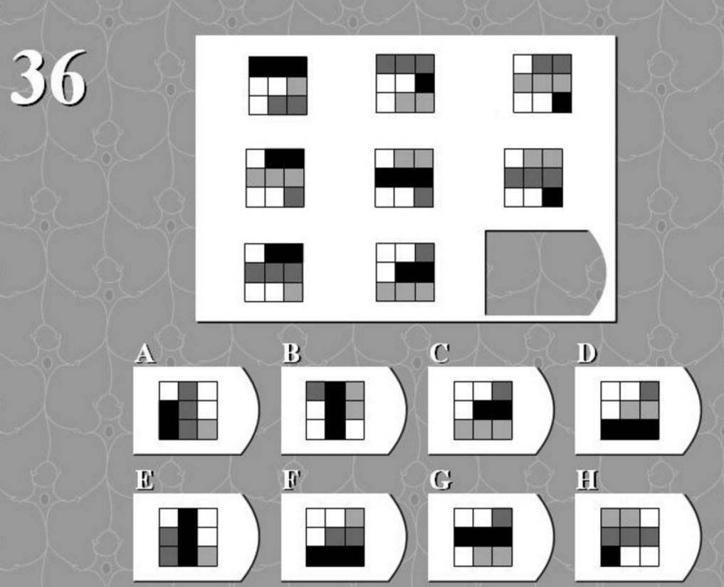 тест на логику квадрат