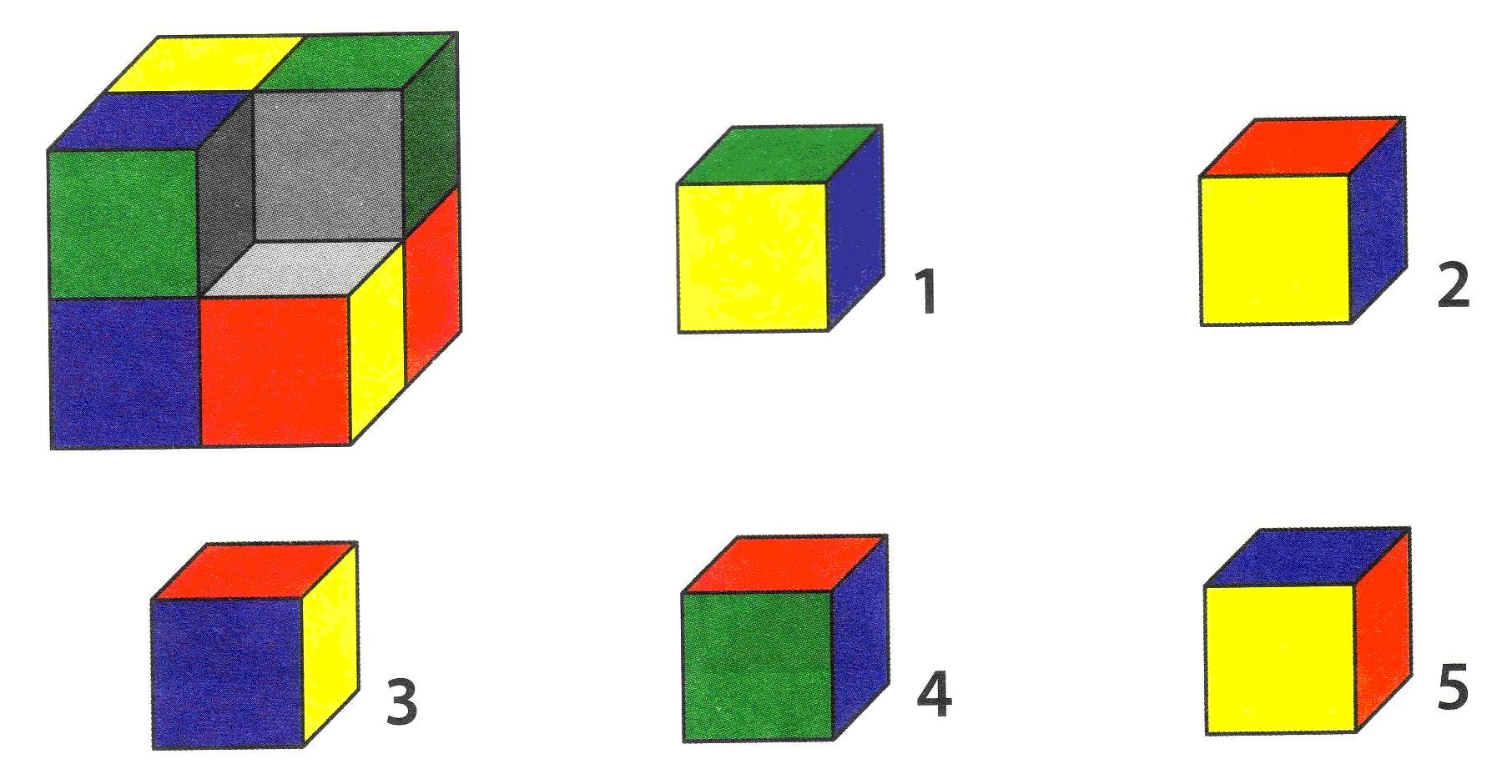 тест на логику кубик
